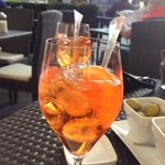 Tasty spritz they suggested made with Italian liquor and soda water and orange, very refreshing!