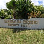 Esmeralda sign coming back from the beach.