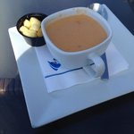 Shrimp and crab bisque- delicious.