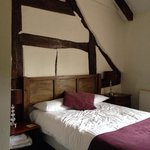Our beautiful rustic bedroom.
