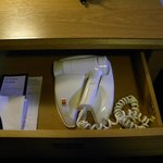 Hairdryer- its in the desk drawer!