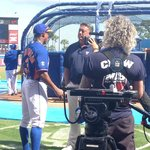 Ron Darling interviewing Curtis Granderson for MLB