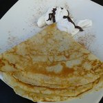 Make sure to try the pancakes (crepes). Add some Nutella or marmelade! Mmm.
