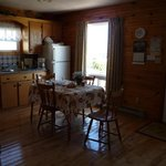 Dining and kitchen area in the cottage