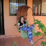 Comfy lounging outside the rooms