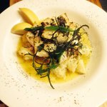 Grilled Dory in a white wine & butter sauce with warm potato salad