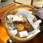 Our freshly made gourmet breakfast hamper.