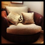 Snuggle chair in loft room