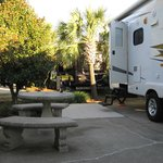Nice site at Destin RV plenty of room