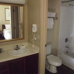 Bathroom with separate washstand.
