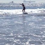 Surfing at Seal Beach