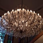 The entrance...gorgeous chandelier!