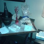 Our goodies comliments of the hotel <3