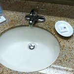 Bathroom sink.