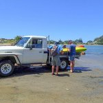 Tahi Beach - transport to the estuary for kayaking