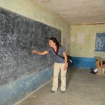 My friend teaching at the local Masai school