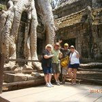 Posers at Ta Prohm. The
