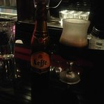 Leffe Dark Beer and Chilled Thistle Glass