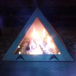 The Pyramid Fireplace at the Lobby