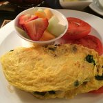 Lovely omelette with Bay Shrimp and spinach