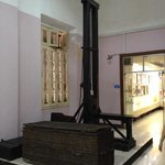 A real guillotine shown at the museum.