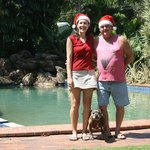 Christmas Photo 2012 at the Swimming pool area