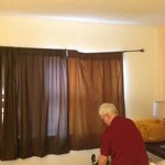 Broken curtain rail