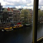 view of Singel Canal from my room