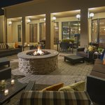 Courtyard Fire-pit located off the lobby and pol
