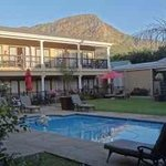 The sun sets on a beautiful day at Hotel Franschhoek