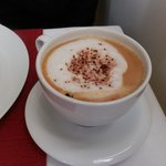 The cup of hot cuppacino which I enjoyed every morning, prepared and served by Batta.