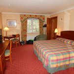 Double Room with adjoining door into twin room. Comfortable but dated