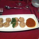 Lamb Momo with Chef's special chutney starter