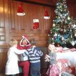 The children helping Santa!