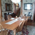 Lovely dining room with unusually comfortable chairs.