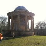 Tuscan temple folly - only small but closed so could only peep in.  Another lunching area.