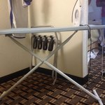 Very small sized ironing board