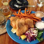 local fish and sweet potato chips