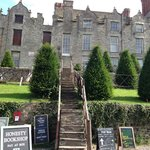 The Castle bookstore and grounds in Hay on Wye