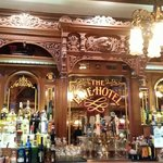 Beautiful hand carved antique wood bar.