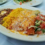 Chicken enchilada platter