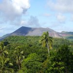 view of Volcano from tree house bungalow