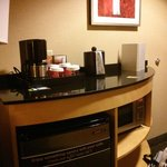 cute little coffee area in room