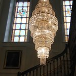 Just one of the many beautiuil chandeliers