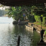 Canoes on the backwaters - directly outside the front gate