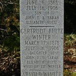 Family listed on the stone marker