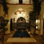 The main area of the Riad with plunge pool