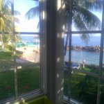 Ocean front room bay window view