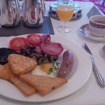 perfectly presented & cooked breakfast