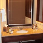Clean bathroom with nice amenities